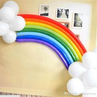 Wholesale Marriage Life - 25pcs set latex life rainbow balloons romantic Valentine's day Marriage room party decorate Balloons