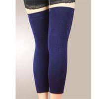 Wholesale Thermal Knee High Socks Women - Wholesale- Compact Design Unisex Wool Thermal Knee Leg Warmer Designer Classic High Long Elasticated Kneepad Legging