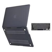 couvertures de clavier en plastique achat en gros de-Coque dure en plastique mat au toucher caoutchouté mat avec revêtement de clavier pour MacBook Air 13 pouces, modèles A1369 et A1466
