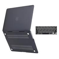 ipad sert plastik kutular toptan satış-Mat Kauçuk Kaplı Yumuşak Dokunmatik Plastik Hard Case klavye kapak ile MacBook Hava için 13 inç Modeli A1369 ve A1466