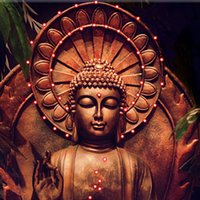 Wholesale Decoration Buddha - The Buddha Wall Art LED Flashing LED Canvas Wall Art Paintings For Home Living Room Office Decoration