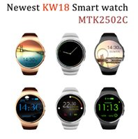 reloj smart оптовых-2017 Hot Bluetooth Smart Watch Phone KW18 Sim And TF Card Heart Rate Reloj Smartwatch Wearable App для IOS Android mp3