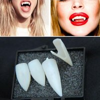 4Pcs lot New Arrival Fancy Vampire Denture Dentes Fangs Festa Halloween Party Props Mardi Gras Funny False tooth novetly toy