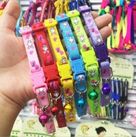 Wholesale Easy to clean canvas pet dog collar rabbit cat dog bell collar high quality color buckle bell the color is very good suitable for