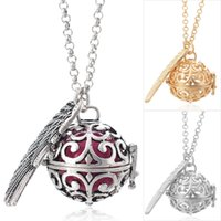 Wholesale Ball Chain Necklace Colors - Vocheng Ball Harmony 3 Colors Angel Ball Pendants Baby Chime Necklace with Stainless Steel Chain VA-025