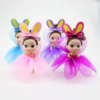 Wholesale Screen Figures - Doll Key Chain Confused Pure Hand Made Screen Lotus Rabbit Ear Bowknot Princess Dolls Pendant Multicolor Select 16CM 6 9hx I1