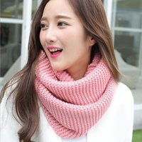 2017 Winter Cable Ring Scarf Mulheres Tricô Infinity Scarves Knitted Warm Neck Circle Scarf bufandas cuellos Hot Sale G1196