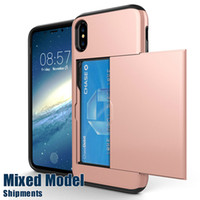 Wholesale note sumsung online – custom For iPhone X Luxury Hybrid Credit Card Pocket Wallet Pouch Shockproof Case For iPhone Plus Sumsung Note S8 Plus Cases