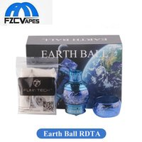 Wholesale wholesale earth ball - Authentic Fumytech Earth Ball RDTA Tank ml Top Refilling RTA Atomizer vs Dragonball Crystal RDTA Original