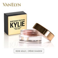 Wholesale Eyeshadow 5g - 2017 Kylie Jenner Eyeshadow Birthday Edition 5g Luxury Creme Shadow Copper Rose Gold Naked Eye Makeup Metallic Cream Eyeshadow Free Shipping
