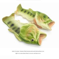 Wholesale Type Men Shoes - Creative Funny fish type slippers trend personality men and women paternity beach shoes new fish slippers