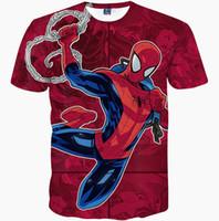 Wholesale Sleeves Spider - Spider man T shirt Peter Benjamin Parker short sleeve gown Super hero tees Film printing clothing Unisex cotton Tshirt