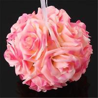 ingrosso rose colorate-1pcs multicolore realistico e bei fiori artificiali Rose di seta Craft Wedding Party Home Decoration Vendita calda