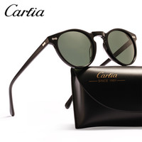 Wholesale Designer Sunglasses Green Lens - polarized sunglasses women sunglasses carfia 5288 oval designer sunglasses for men UV protection acatate resin glasses 3 colors with box