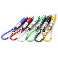 Wholesale Uv Led Pointer - 3in1 3 in 1 Laser Pointer 2 LED Flashlight UV Torch Keychain +3x LR44 button cell battery Laser Pointer