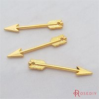 Wholesale Diy 5mm Gold Plated - Wholesale-(29212)50PCS 29*5MM Gold Color Plated Zinc Alloy Small arrow Charms Diy Jewelry Findings Jewelry Accessories wholesale