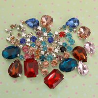 Wholesale Wholesale Rhinestones Artificial - Multi-color Artificial Crystal Rhinestone, Large*12+Small*50 Package