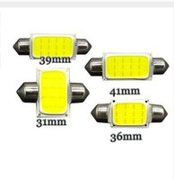 Wholesale Car Led Interior Lights 42mm - 100X 31mm 36mm 39mm 42mm C5W DC12V 12SMD COB White Color Car LED Bulbs Auto Lamp Interior Dome Light