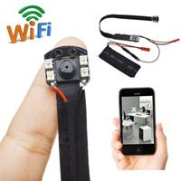 ir kamera modülü toptan satış-IR Gece Görüş Kablosuz WiFi Modülü IP Kamera HD 1080 P DIY Modülü pinhole kamera ile Hareket Algılama Modülü P2P DVR