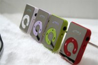 Wholesale Mp3 Clip Usb - Mini Mirror Clip USB Digital MP3 Music Player Support SD TF Music Play with TF-Card Slot