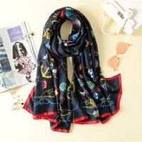 Wholesale Hairband Chains - Chains Zips Women Scarf Luxury Brand Designer 2017 Scarves Headwear Hairband Bandanas Hijabs Winter Scarf 180*90cm
