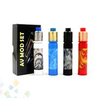 Wholesale blue tips - Vaporizer 528 GOON Kit Electronic Cigarette with AV Resin Able Mod GOON 528 RDA Resin Drip Tip High quality DHL Free