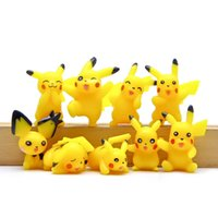 9Pcs Poke Pikachu Mini Action Figures Anime Doll Collezioni Giocattoli 2-3cm Kids Toy Cartoon modello regalo