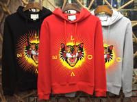 Wholesale Black Top Gypsy - 2017 summer new high-end men's brand hoodie fashion short sleeve tiger printing fashion gypsy Men's Tops Sweatshirts