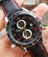 Wholesale luxury black calibre 16 - New Black Top luxury brand Calibre 16 Men's Mechanical Stainless Steel Automatic Movement Watch Sports mens Self-wind Watches tag Wristwatch