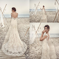 Wholesale Sexy Back Lace Wedding Dresses - 2017 Wedding Dresses Eddy K Aires Mermaid Appliques Lace Gorgeous Sheer Neck and Back Cap Sleeve Vintage Lace Wedding Gowns Custom Made