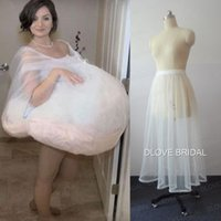 Wholesale Gathered Skirt - Bridal Buddy Wedding Dress Petticoat Underskirt Save You From Toilet Water Gather Skirt for Toilet Wedding Accessories In Stock Real Photos