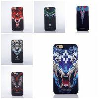Wholesale Leopard Iphone Tpu Case - New 2017 For iPhone 6 Marcelo Burlon Cover Boa Tiger Leopard Funda PC Case For iPhone 6 6S 7 Plus 5S Marcelo Burlon