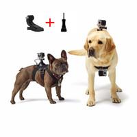Wholesale straps dogs - For GoPro Accessories Adjustable Dog Fetch Harness Chest Strap Belt Mount For GoPro Hero6 black 5 4 3+ 3 2 SJ4000  SJ5000 Action Sport