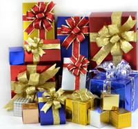 grandes cajas de regalo rosa al por mayor-Gran Brillo Arco Decoración del árbol de Navidad Presente Caja de Regalo Decoración de DIY Año Nuevo Boda Ornamentos de Navidad Guirnalda Garland Arcos