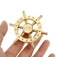 Wholesale classic steering wheel - Boat Rudder Hand Spinner Edc Decompression Toy Helmsman Fidget Spinner Steering Wheel Design Fidget Toy Classic #4350