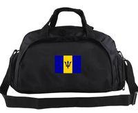 Wholesale photo bag pack resale online - Barbados duffel bag Exercise tote Flag photo backpack Football luggage Sport shoulder duffle Outdoor sling pack