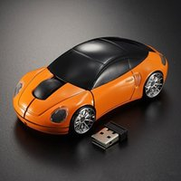 Wholesale Blue Car Wireless Mouse - Creative Optical 2.4Ghz USB Mini Car Wireless Mouse Blue Light Auto Office Mice For Computer Laptop PC Gift