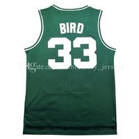 Wholesale Retro Cheap - Retro Men #33 Larry Bird Basketball jersey Mesh #6 Bird jerseys Cheap sales 100% stitched embroidery logo,free shipping