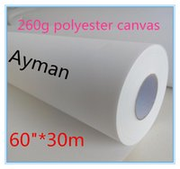 "Wholesale Pigment Inkjet Ink - 60""*30m 100% polyester waterproof pigment ink Canvas Inkjet Canas digital printing canvas"