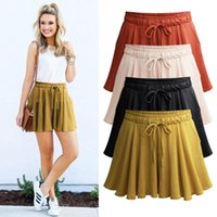 Wholesale Plus Size Harem Shorts - Summer Plus size M-6XL Short women Wide Leg Female Shorts Casual Loose Ladies Elastic waist With Pocket Short pants