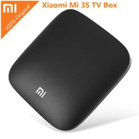 Original Xiaomi Mi 3S Smart TV Caja 4K 64bit Android 6.0 Bluetooth 4.1 Media Player Quad Núcleo Amlogic S905X Dolby DTS HDMI + B