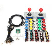 Wholesale Push Button Plates - LED Arcade USB Joystick 32mm Small round Silver plating Push Button With Microswitches USB Encoder DIY Kit