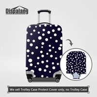 Wholesale Trolley Trunk Suitcase - Case For A Suitcase Striped Dot Patterns Luggage Protector Covers For 18~30 Inch Trolley Trunk Women Rain Dustproof Cover Travel Accessories