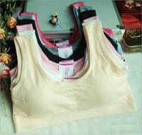 Wholesale Cotton Genie Bras - Mix 18 Colors Girls bra without steel Seamless Genie Bra Women Sexy Sport bras cotton sports vest underwear