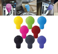 Wholesale Auto Gear Knob Cover - 1Pc Car Auto Ovel Shaped Silicone Gear Shift Knob Cover Manual Automatic Nonslip Lever Shifter Knobs cover car-styling