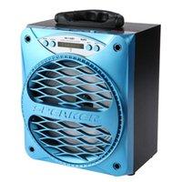 große spieldose großhandel-Großhandels-MS-136BT großer beweglicher Bluetooth-Lautsprecher-Bass Leistungsfähiger drahtloser Subwoofer im Freien Musik-Kasten-Lautsprecher USB-LED-Licht TF FM Radio