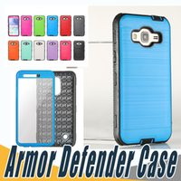 Wholesale Blu Screen Protector - Hybrid Brushed Dual Layered Defender Armor Case With Screen Protector For LG LV5 LV7 LV9 X Power2 X Calibur G5 G6 K7 K8 K10 2017 BLU R1 HD