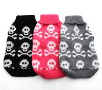 Wholesale Dog Jumper Sweaters - New Dog Pet sweater Jumper Skulls design Cat Puppy Coat Jacket Warm Clothes apparel 5 size