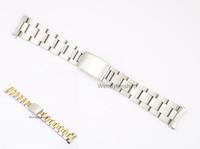 две тональные часы оптовых-19 20 мм из нержавеющей стали 316L два тона золото серебро смотреть ремешок ремешок Старый Стиль устрица браслет полые изогнутый конец