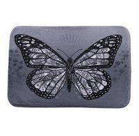 Wholesale Online Butterfly - 40*60cm Black Butterfly Bath Mats Anti-Slip Rugs Coral Fleece Carpet For For Bathroom Bedroom Doormat Online